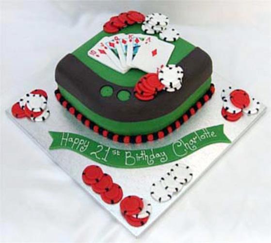 торт на тему казино